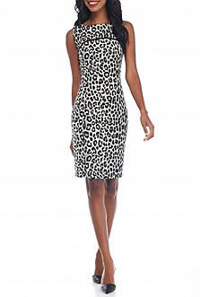MICHAEL Michael Kors Sleeveless Cheetah Print Dress