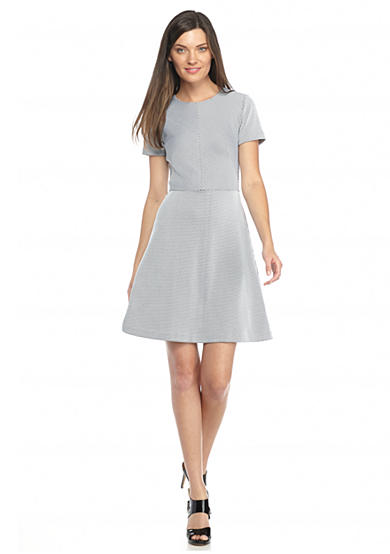 MICHAEL Michael Kors Textured Fit And Flare Dress