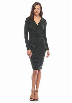 MICHAEL Michael Kors Panther Long Sleeve Wrap Dress