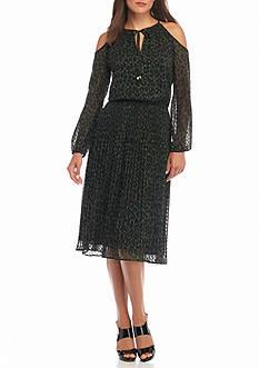MICHAEL Michael Kors Spotted Cheetah Cold Shoulder Dress