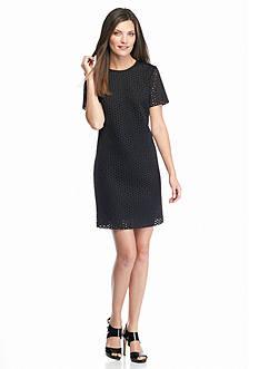 MICHAEL Michael Kors Laser Cut Shift Dress