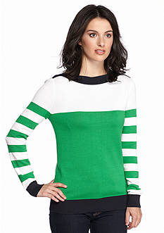 MICHAEL Michael Kors Boat Neck Colorblock Sweater