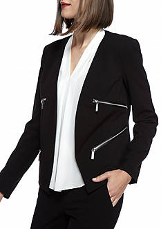 MICHAEL Michael Kors Besome Zipper Blazer