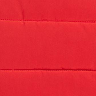 White Designer Jackets for Women: Red Blaze MICHAEL Michael Kors Down Puffer Vest