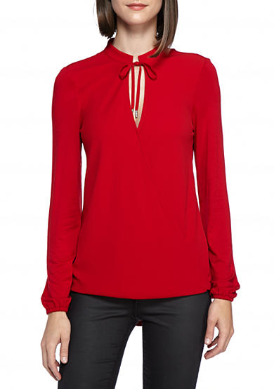 MICHAEL Michael Kors Crossover Woven Top