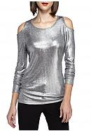 MICHAEL Michael Kors Foil Long Sleeve Cold