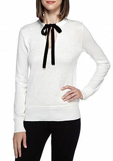 MICHAEL Michael Kors Velvet Tie Sequin Sweater