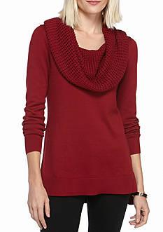 MICHAEL Michael Kors Waffle Cowl Neck Sweater