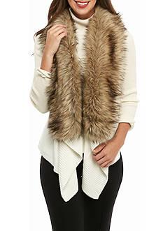 MICHAEL Michael Kors Faux Fur Trim Sweater Vest