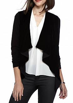 MICHAEL Michael Kors Velvet Drape Sweater