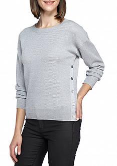 MICHAEL Michael Kors Metallic Texture Sweater