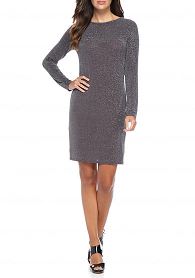 MICHAEL Michael Kors Metal Dot Boat Neck Dress