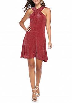 MICHAEL Michael Kors Halter Neck Lurex Dress