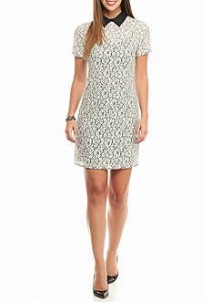 MICHAEL Michael Kors Collared Lace Shift Dress