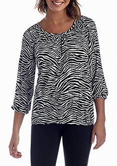 MICHAEL Michael Kors Animal Printed Peasant Top