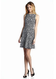 MICHAEL Michael Kors Zebra Print Twist-Back Dress