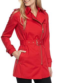 MICHAEL Michael Kors Zip Front Trench Coat