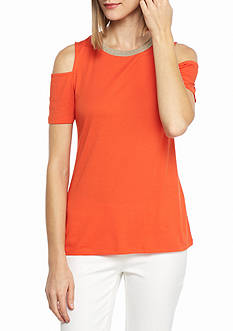 MICHAEL Michael Kors Cold Shoulder Top