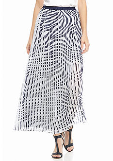 MICHAEL Michael Kors Printed Pleated Skirt