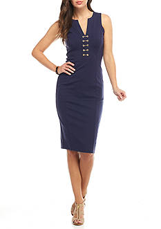 MICHAEL Michael Kors Embellished Ponte Dress