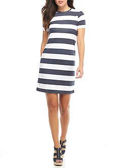 MICHAEL Michael Kors Rugby Stripe Shirt-Dress