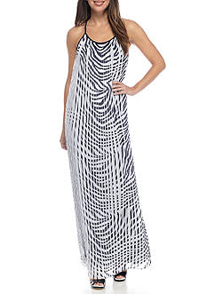 MICHAEL Michael Kors Plains Zebra Pleated Maxi