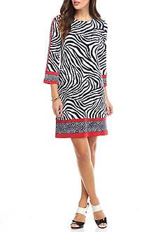 MICHAEL Michael Kors A-Line Border Dress