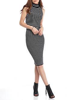 MICHAEL Michael Kors Stripe Ribbed Dress