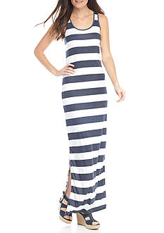 MICHAEL Michael Kors Rugby Stripe Tank Maxi Dress