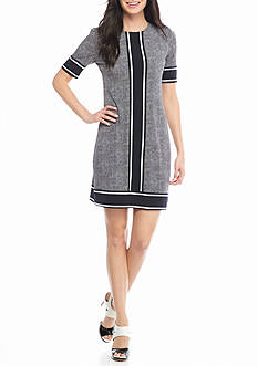 MICHAEL Michael Kors Short Sleeve Stingray Boarder Dress