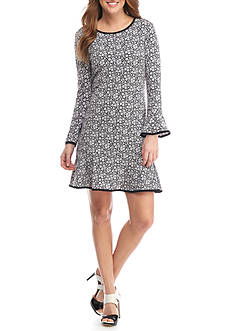 MICHAEL Michael Kors Daphne Floral Flounce Dress