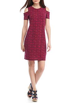 MICHAEL Michael Kors Daphne Cold Shoulder Shift Dress