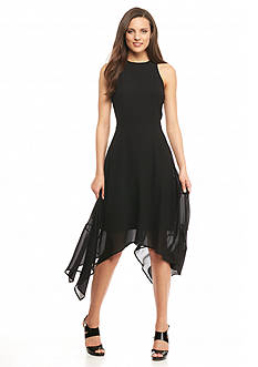 MICHAEL Michael Kors Shark-Bite Hem Maxi Dress