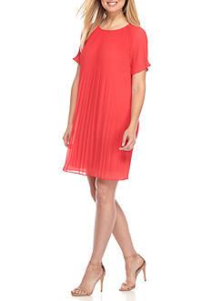 MICHAEL Michael Kors Short Sleeve Pleated Dress