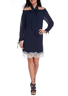 MICHAEL Michael Kors Lace Hem Cold Shoulder Dress