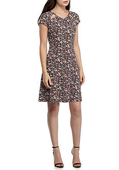 MICHAEL Michael Kors Brooks Shirred Neck Dress