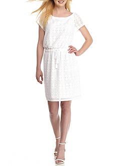 MICHAEL Michael Kors Eyelet Dress