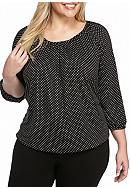 MICHAEL Michael Kors Plus Size Spot Scoop-Neck