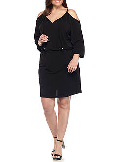 MICHAEL Michael Kors Plus Size MJ Cold Shoulder Dress