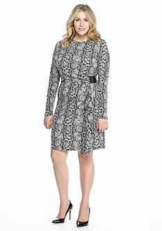 MICHAEL Michael Kors Plus Size Cobra Wrap Dress