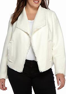 MICHAEL Michael Kors Open Front Tweed Jacket