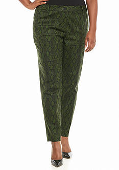 MICHAEL Michael Kors Plus Size Diamond Snake Mirand Pants