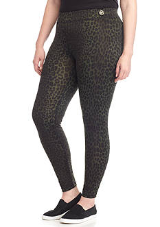 MICHAEL Michael Kors Plus Panther Print Leggings