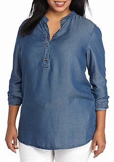 MICHAEL Michael Kors Plus Size Denim Tunic