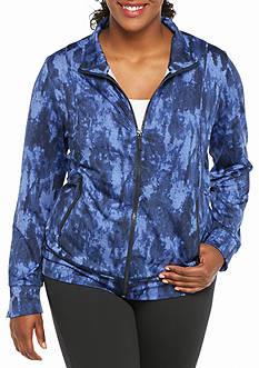 MICHAEL Michael Kors Plus Size Contrast Seam Zip Jacket