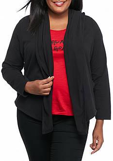 MICHAEL Michael Kors Plus Size Drape Hood Cardigan
