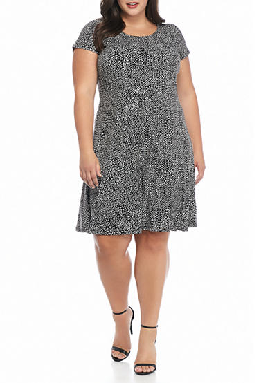 MICHAEL Michael Kors Plus Size Graphic Scale Print Dress
