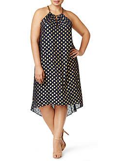 MICHAEL Michael Kors Plus Size Bergalia Foil Dress