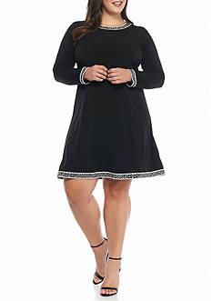 MICHAEL Michael Kors Plus Size Printed Border Dress