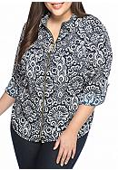 Michael by Michael Kors Plus Size Tapestry Top